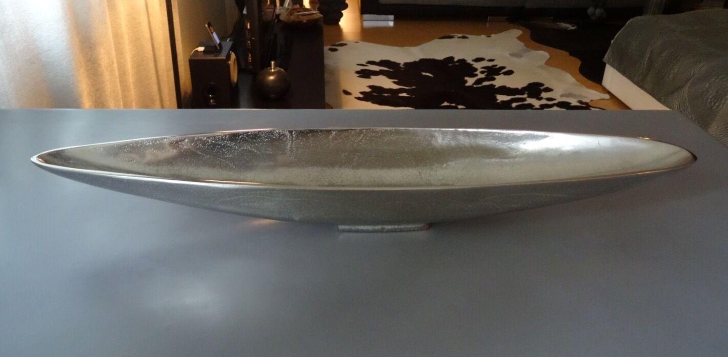 Edle Edle Edle Dekoschale Design Schale Tischdeko silber Metall Aluguss massiv | Qualität und Quantität garantiert  d3fc47