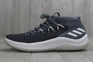 new concept 74817 c3f5e Image is loading 33-New-Adidas-Dame-4-Basketball-Shoes-Grey-