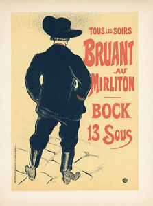 TOULOUSE-LAUTREC-lithograph-poster-printed-by-Mourlot