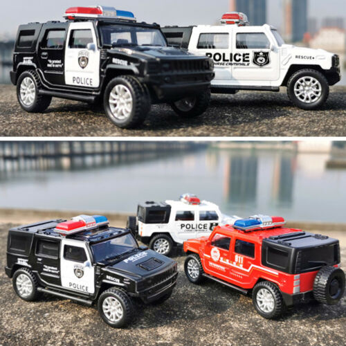 1//36 Kids Toy Simulation Police Car Vehicle Pull Back Truck Models
