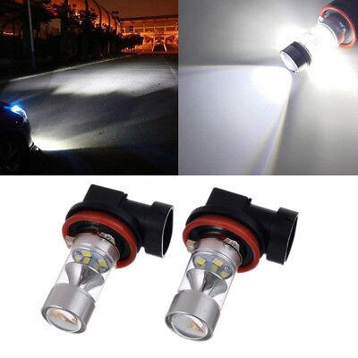 2pcs 6000k Super White H11 H8 Fog Light SAMSUNG 2323 LED 100W Driving Bulb USA