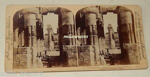 Vue-STEREO-mexicain-The-Beaufitul-Lotus-Pillars-and-Grand-Colonnade-Luxor-Temple