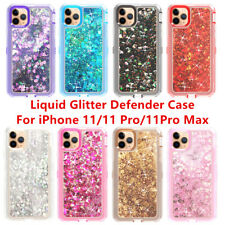 For Apple iPhone 11/11 Pro Max Quicksand Liquid Glitter Defender Case Cover