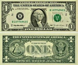 Amerique-USA-billet-de-1-DOLLAR-one-US-DOLLAR