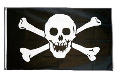 Pirat  Jolly Roger Fahne Flagge Hißflagge Hissfahne 150 x 90 cm