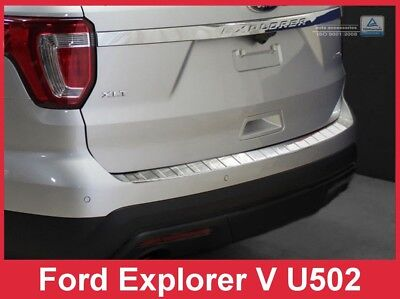 Steel Inner Rear Bumper Protector Alloy Guard Cover For Ford Explorer 2011-2018