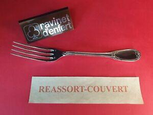 Fork-Table-22-cm-Pompadour-Ravinet-D-Enfert-Beautiful-Condition-Metal-Silver