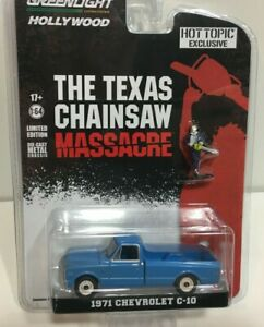 Greenlight Hollywood 1//64 The Texas Chainsaw Massacre 1971 Chevy C-10 44820 B