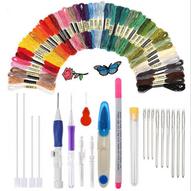 New Magic DIY Embroidery Pen Set Knitting Sewing Tool Kit Punch Needle Stitching