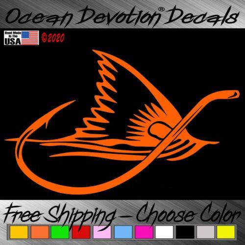 Redfish Fin Hook Ocean Devotion Vinyl Decal Car Window Salt Life Sticker VX