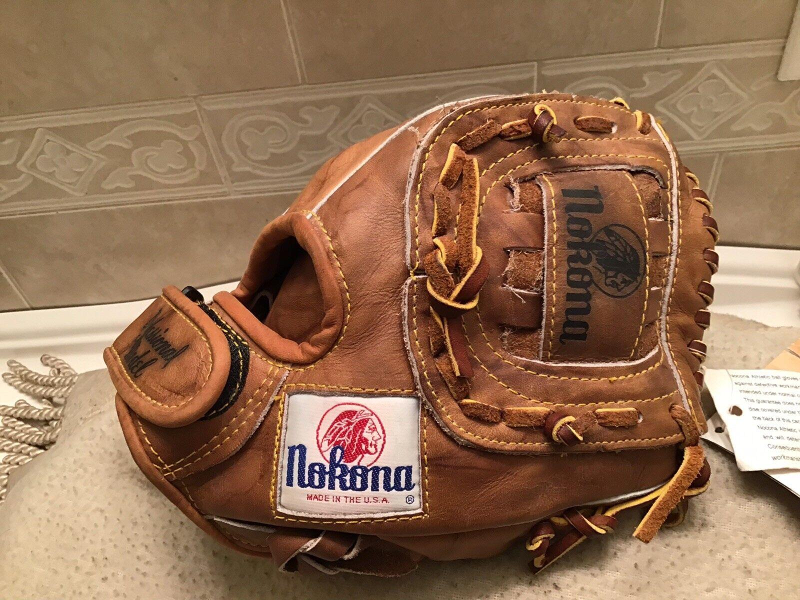 "Nokona AMG-125 10.5"" Weiß Label Baseball Softball Glove Right Hand Throw NWTags"