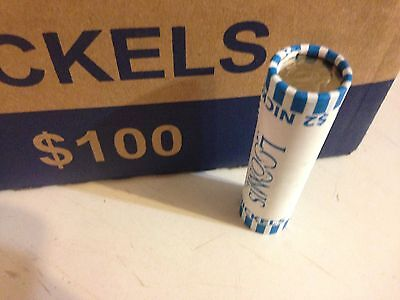Unsearched Circulated 75/% Copper Coins Bank Rolled 2 Jefferson Nickel Rolls $4