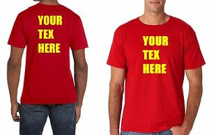 c84782b22 Custom Personalized T shirts your own text many colors business T ...