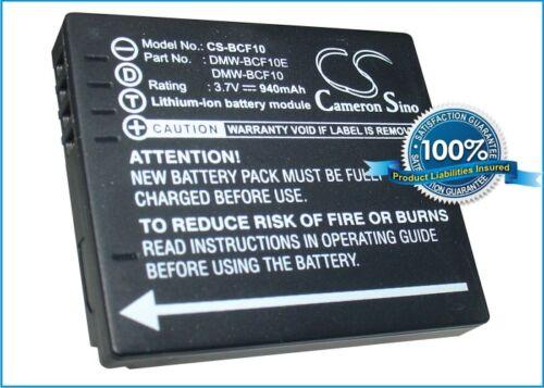 3.7V battery for Panasonic Lumix DMC-FS12, Lumix DMC-FX60P, Lumix DMC-FH1S NEW