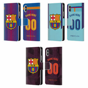 5e95d8ef676 PERSONALIZED FC BARCELONA 2017/18 KIT LEATHER BOOK CASE FOR APPLE ...