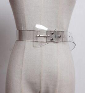 Women-Belt-Fashion-Transparent-Pvc-Leather-Cummerbund-Single-Metal-Tongue-Buckle