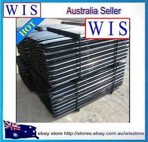 10-x-HD-Star-Pickets-Ultra-Star-Picket-Post-Black-1-35m-Steel-Fence-Post-67135