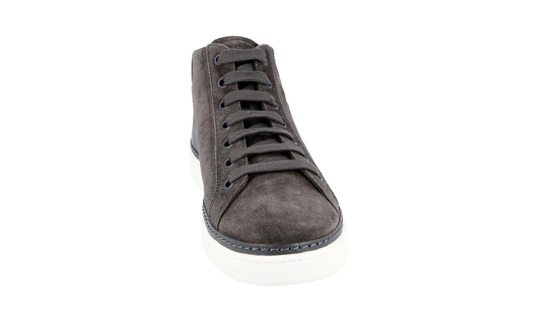 Zapatos de Cuero Auth PRADA 44 Tenis + 4E2439 Nylon Negro 10 44 PRADA 44,5 ff1785