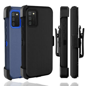 For Samsung Galaxy A02S Case Holster Belt Clip Stand Shockproof Cover Heavy Duty