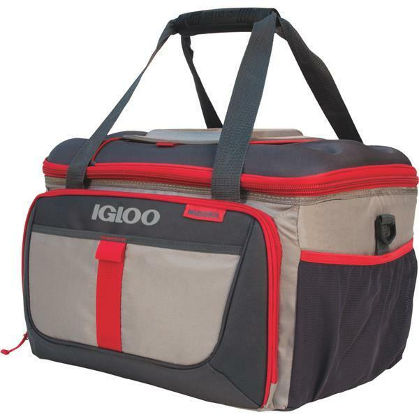 Igloo 3 Lb. MaxCold Outdoorsman Collapsible 50 Can Soft-Side Cooler, Red