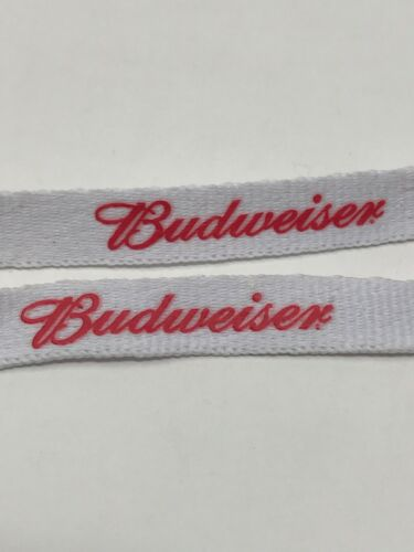 Shoe Laces White Red Promo 54 inch BEER 2 Pairs Budweiser NEW!