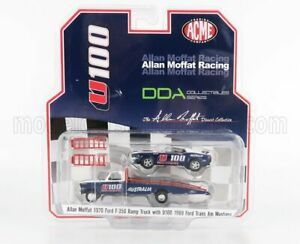 ACME-MODELS 1/64 FORD USA   F-350 RUMP TRUCK WITH MUSTANG TRANS AM U100 COUPE...