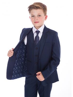 Festlicher Jungen Anzug 5-teilig blau Kinderanzug Hochzeit ...