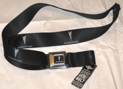 great gift! Pontiac Logo Seatbelt Belt with arrowhead logo strap 3 sizes