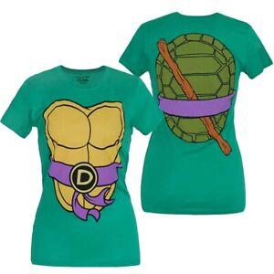 Teenage-Mutant-Ninja-Turtles-Donatello-Costume-Junior-Women-039-s-T-Shirt