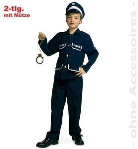 Polizist Kostum Blau 104 152 Polizei Uniform Karneval Fasching