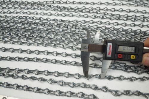 50 Ft Single Jack Steel Weldless Chain 65 Lb Breaking Strength Type 2 Class 7