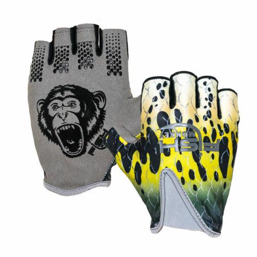 Fish Monkey FM18 Stubby Guide Gloves Half-Finger Fishing Gloves w// UPF 50+