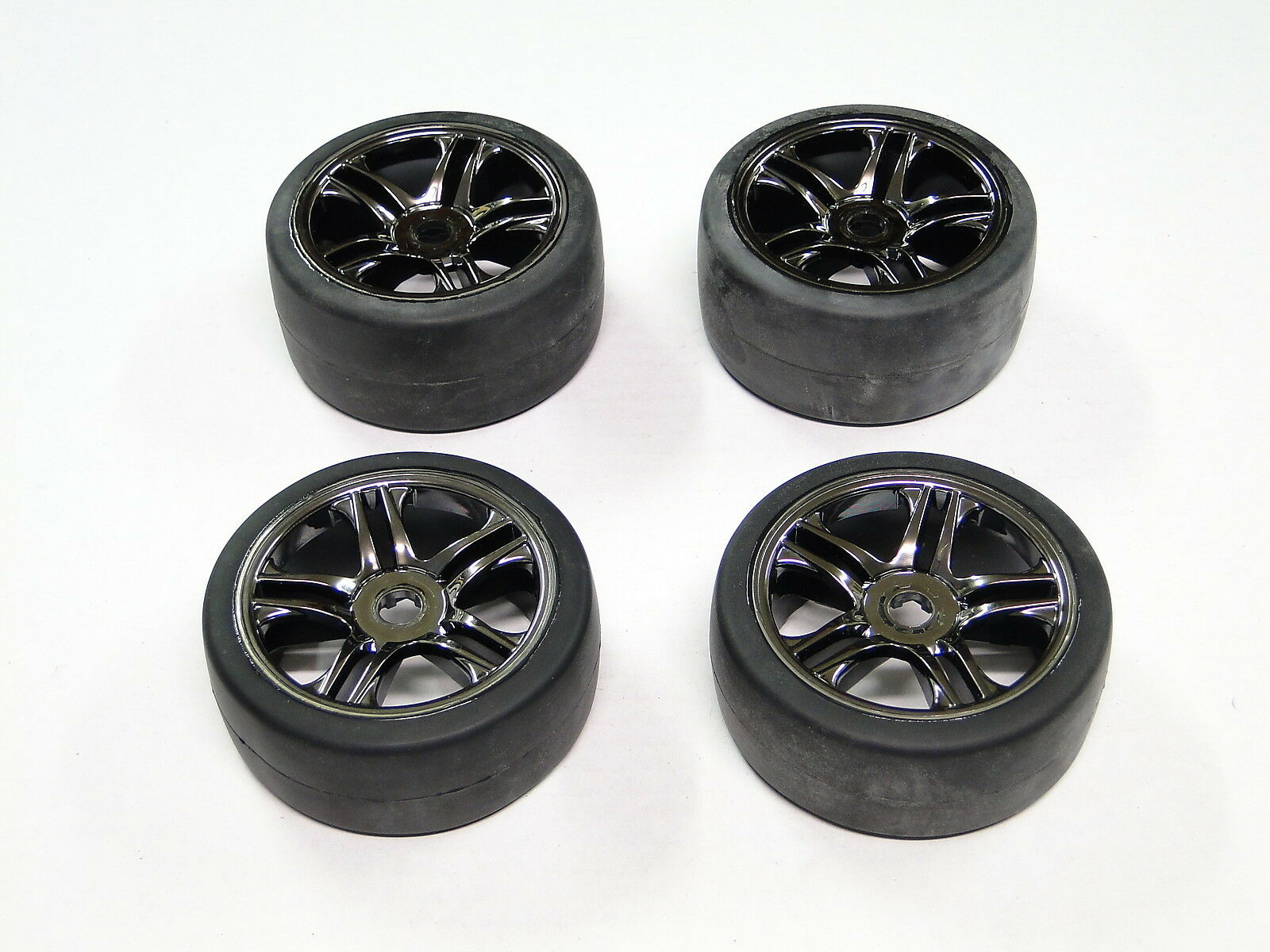 NEW TRAXXAS 1/7 XO-1 100MPH 4WD SUPERCAR Wheels & Tires Set of 4 RO32