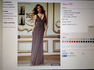 Image Is Loading Wtoo Watters 559 Bridesmaid Dress Color Stone Sz