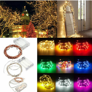 20-30-50-100Pack-LED-String-Copper-Wire-Fairy-Lights-Battery-Powered-Waterproof