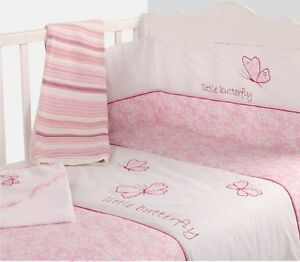Image Is Loading BABY COT GIRLS NURSERY BEDDING QUILT Amp BUMPER