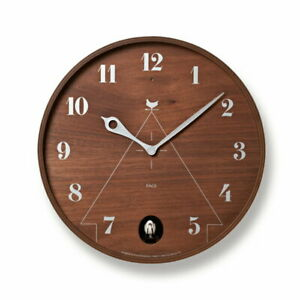 Lemnos Wall Clock Pace Analog Cuckoo Brown LC17-14 BW