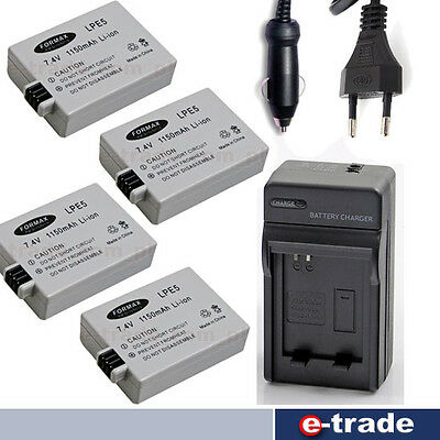 500D Cameras Genuine Canon LP-E5 Battery for EOS  Canon 1000D 450D