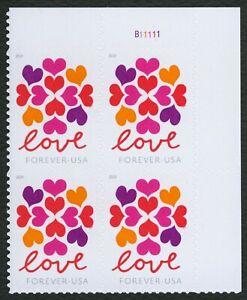 #5339 Amor: Corazones Blossom, Placa Bloque [B11111 Ur ] Cualquier 5=