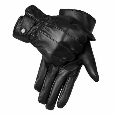 REAL LEATHER GLOVES THERMAL THINSULATE LINED DRIVING SOFT WARM WINTER UK