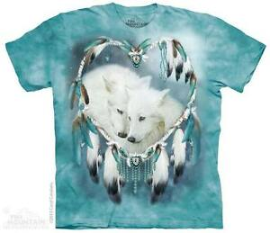 THE MOUNTAIN WOLF HEART WIND CATCHER LOVE NATIVE AMERICAN TEE SHIRT S-5XL