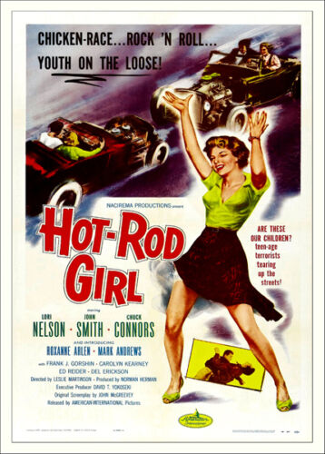 "1950'S ""HOT ROD GIRL"" MOVIE POSTER PRINT A3 OR A2"