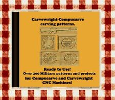 New CD with Over 200 Sears Craftsman Compucarve Carvewright Military Patterns
