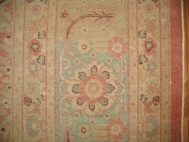 Antique Turkish Ushak Oushak Sivas Herekeh Fine Rug Size 11'2''x14'2''