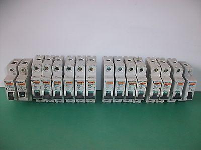 MCB Circuit Breaker Merlin Gerin Several Sizes C60HB, C60HC, C60HD Ranges