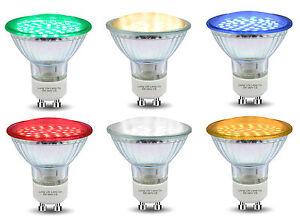 Afficher Led Couleur Jaune Détails Lampe Couleurs Le Rouge Leds Sur De Bleu Vert Gu10 D'origine Lumière Titre Ampoules O8n0kPw
