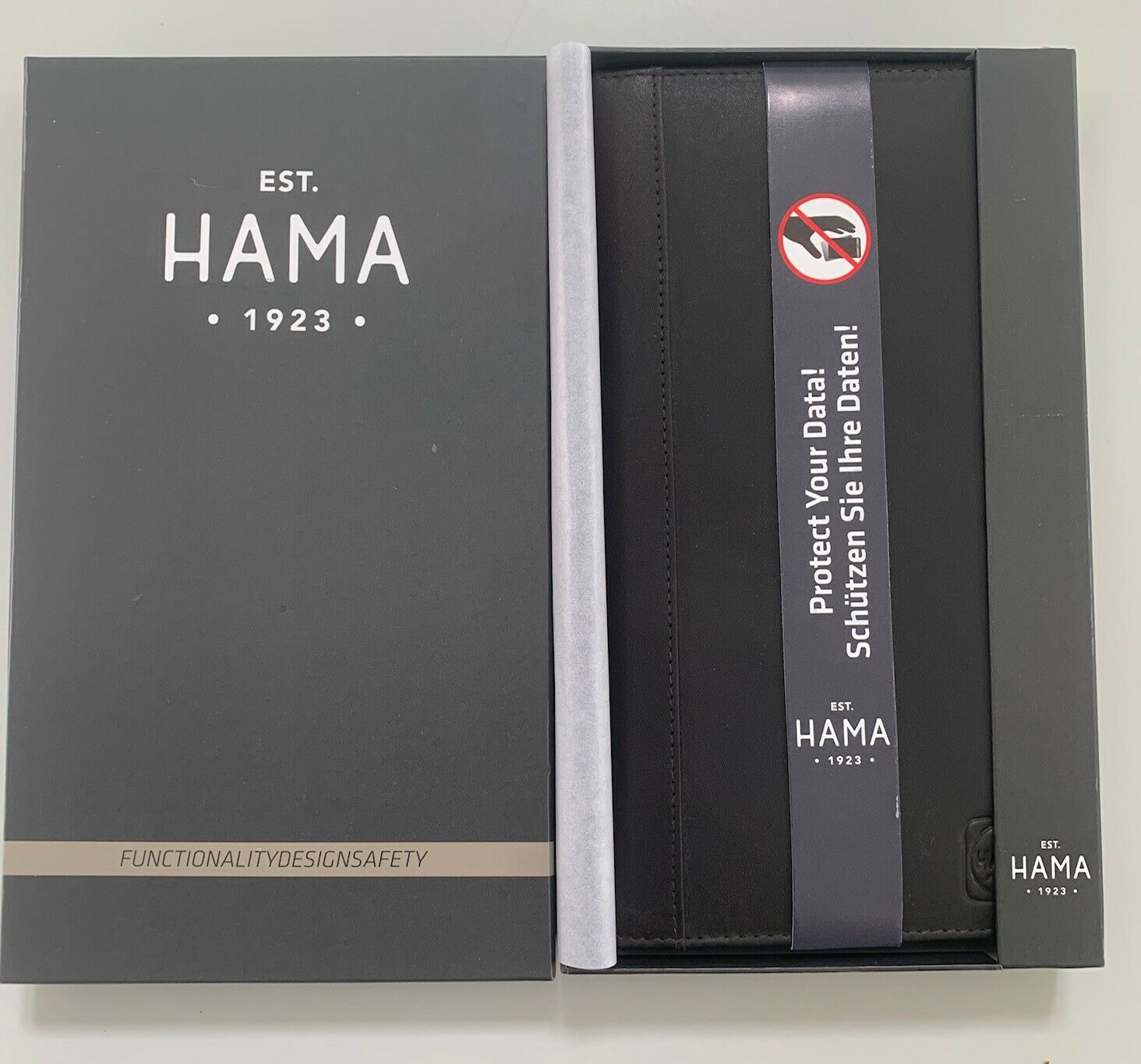 Hama Sicherheits Brieftasche Dark Brown - NEU & OVP - NP über 100.-