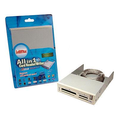 "USB 2.0 Hub 3x 3.5/"" All-in-One Internal Flash Memory Card Reader"