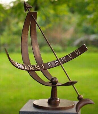 sonnenuhr aus bronze gartendeko terrassendeko skulptur gartenuhr landhaus 45cm