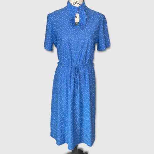 Ms Claire New York Vintage 70's Blue Dress   M/L